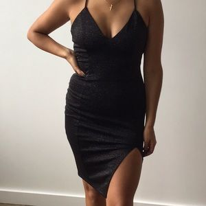 Black with sparkles  bodycon night dress